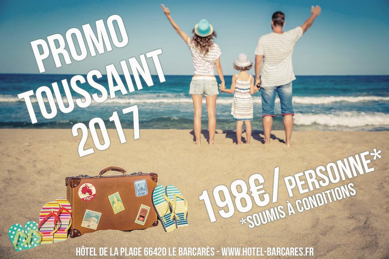 Vacances Toussaint 2017 au Barcarès – 198€/personne*